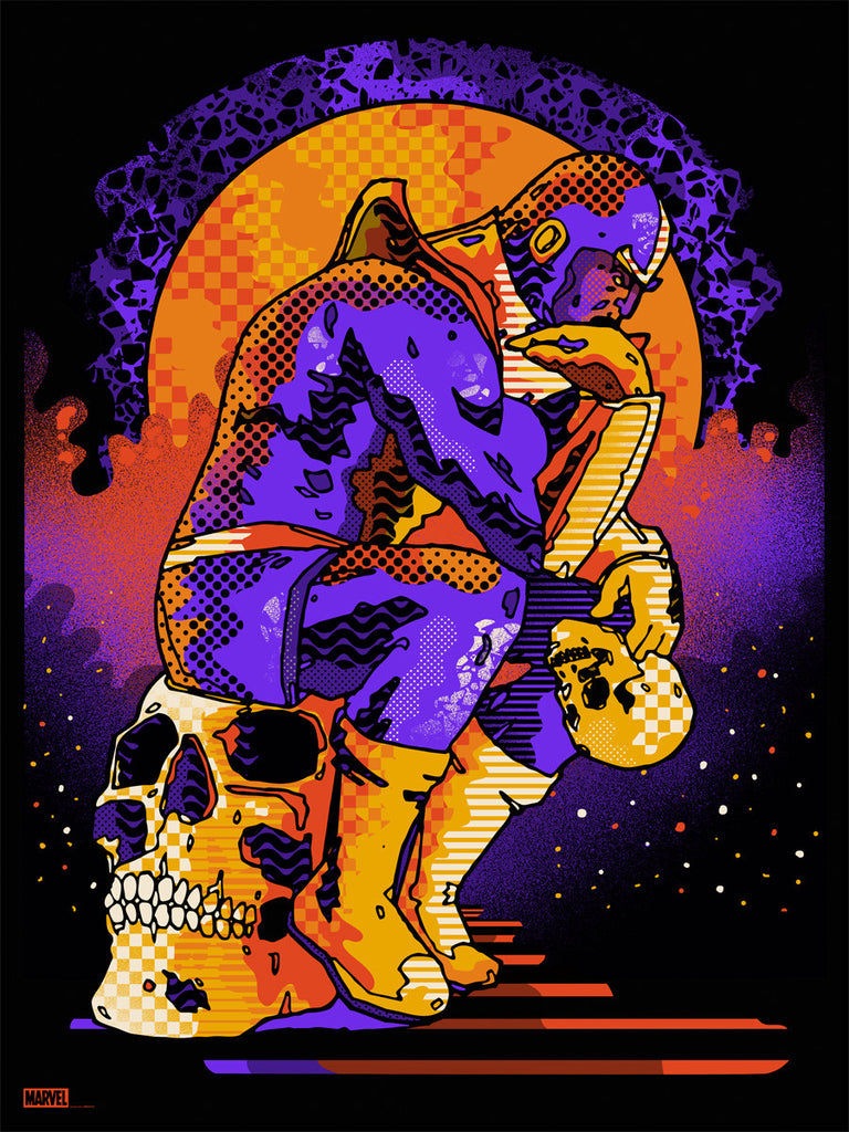 """Thanos"" Marvel Print by We Buy Your Kids"