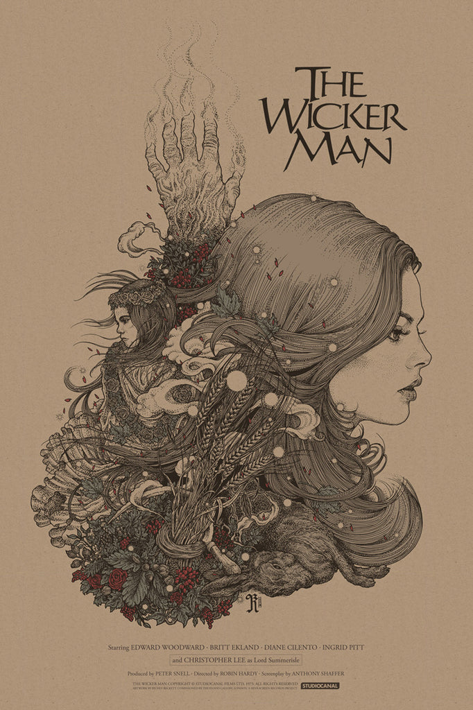 The Wicker Man Poster by Richey Beckett