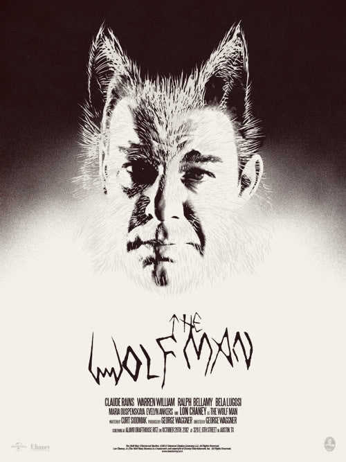 The Wolf Man Poster by Jay Shaw