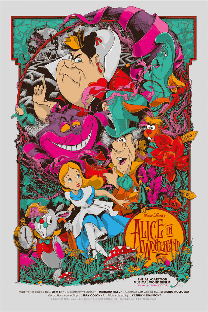 Alice in Wonderland Poster by Ken Taylor