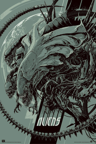 Aliens (Variant) Movie Poster by Ken Taylor