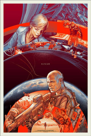 Elysium Poster by Martin Ansin