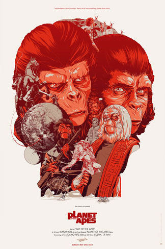 Planet of the Apes (Variant) Poster by Martin Ansin