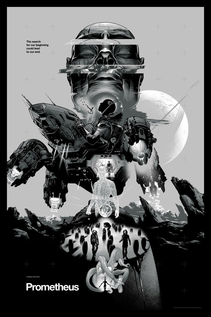 Prometheus Poster by Martin Ansin