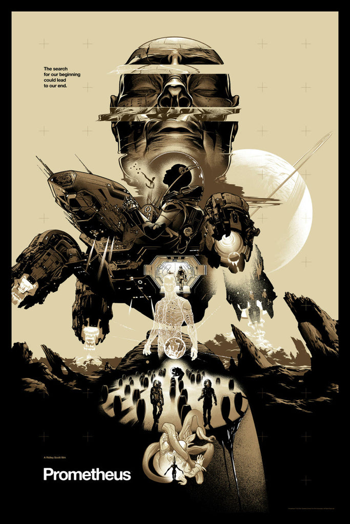 Prometheus (Variant) Poster by Martin Ansin