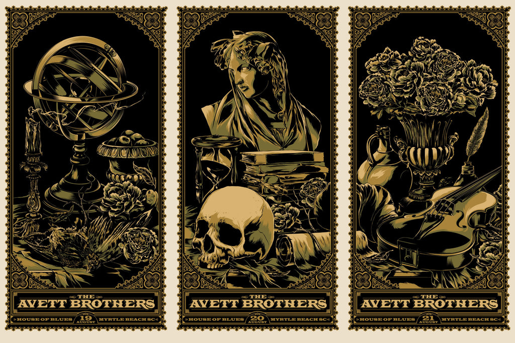 The Avett Brothers Myrtle Beach Poster Set by Ken Taylor