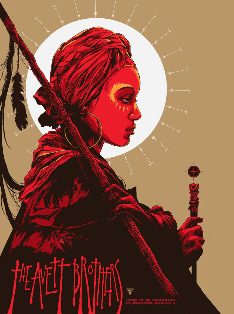 The Avett Brothers New Orleans Concert Poster by Ken Taylor