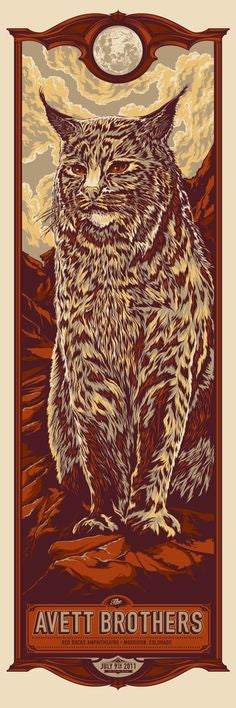 The Avett Brothers Red Rocks Poster by Ken Taylor