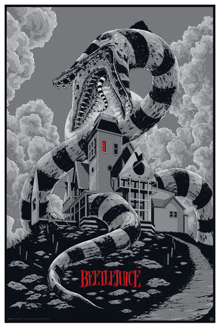 Beetlejuice (Variant) Movie Poster by Ken Taylor.