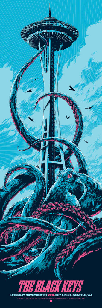 The Black Keys Concert Poster by Ken Taylor