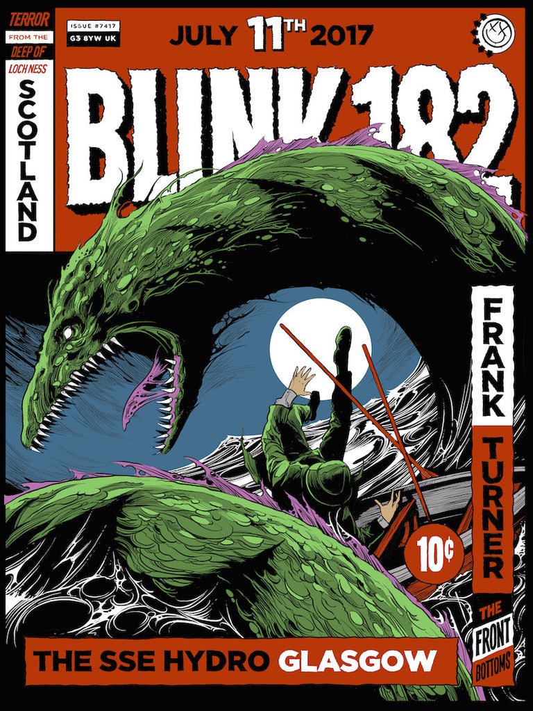 Blink-182 Glasgow Poster by Ken Taylor