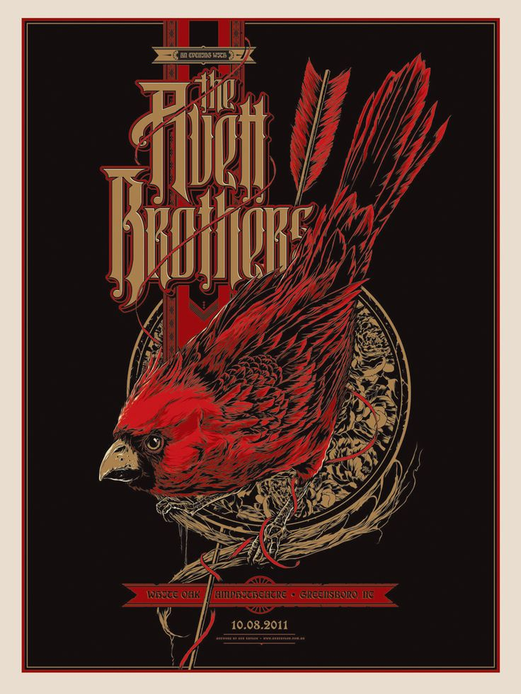 The Avett Brothers Greensboro Concert Poster by Ken Taylor
