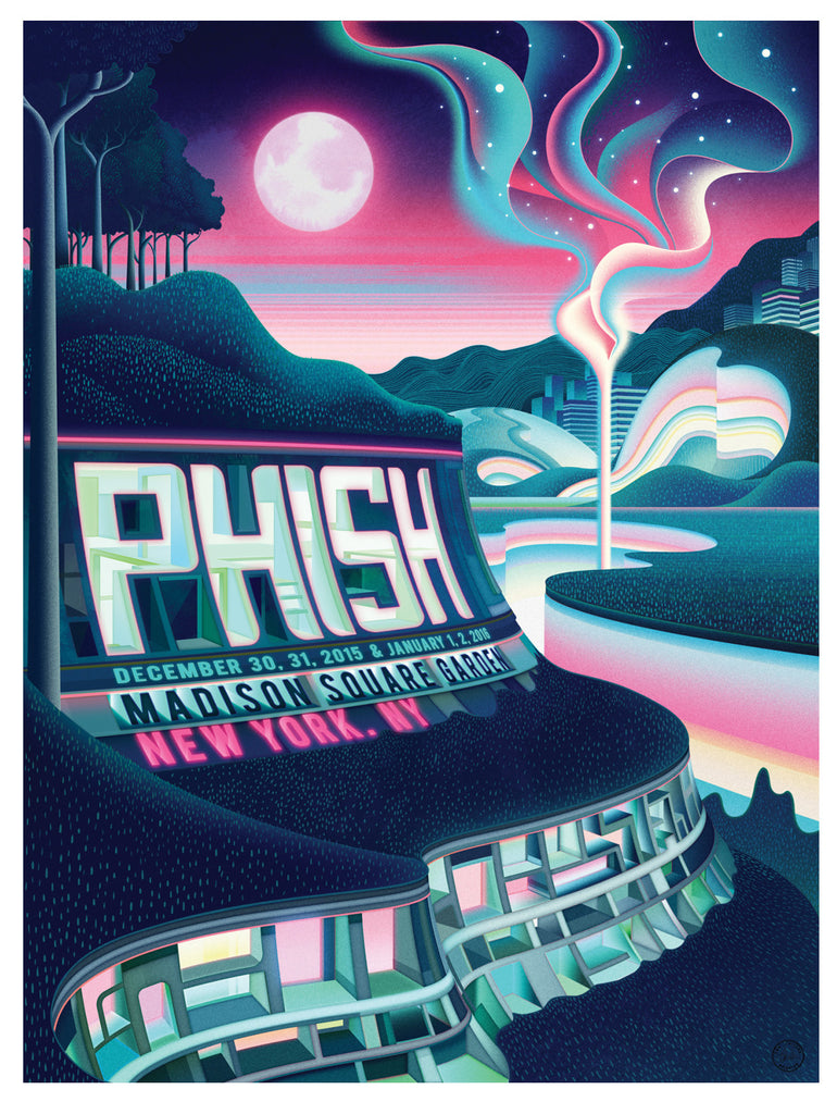 Phish MSG Concert Poster by Sam Chivers