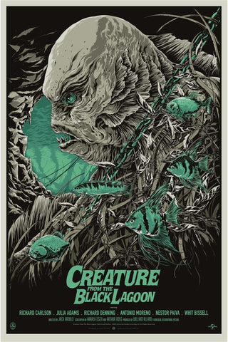 Creature from the Black Lagoon (Variant) Movie Poster by Ken Taylor