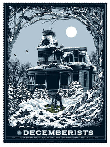 The Decemberists Royal Oak Concert Poster by Ken Taylor