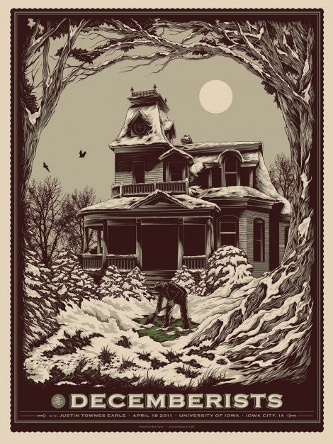 The Decemberists Iowa City Concert Poster by Ken Taylor