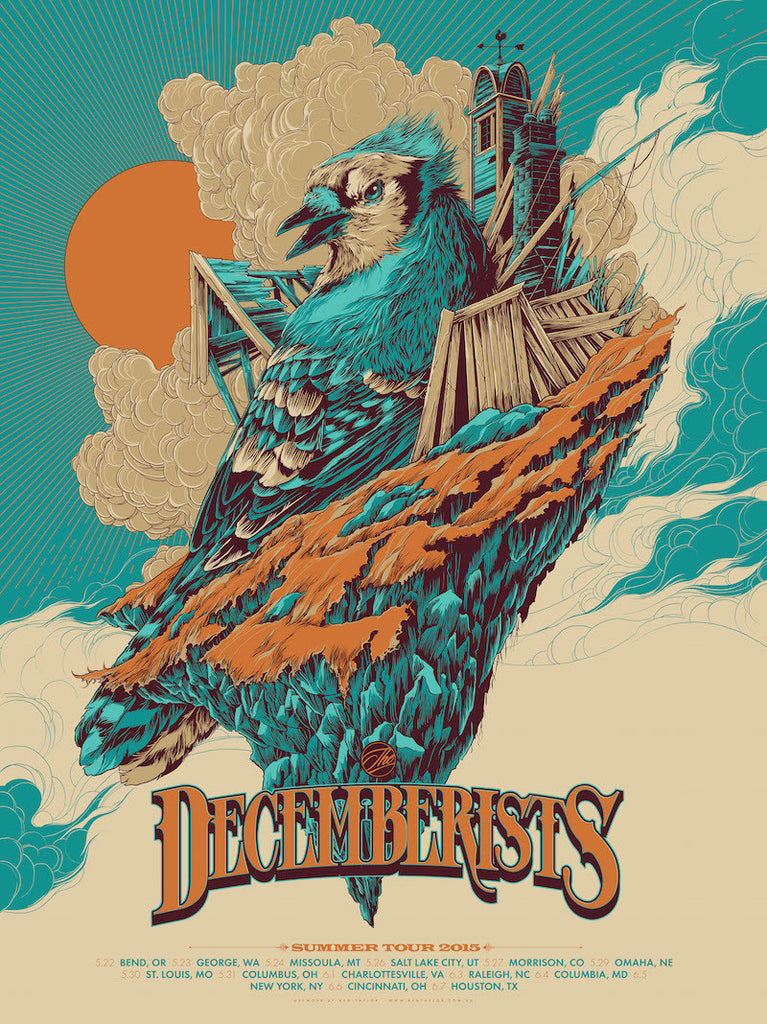 The Decemberists Summer Tour Poster by Ken Taylor