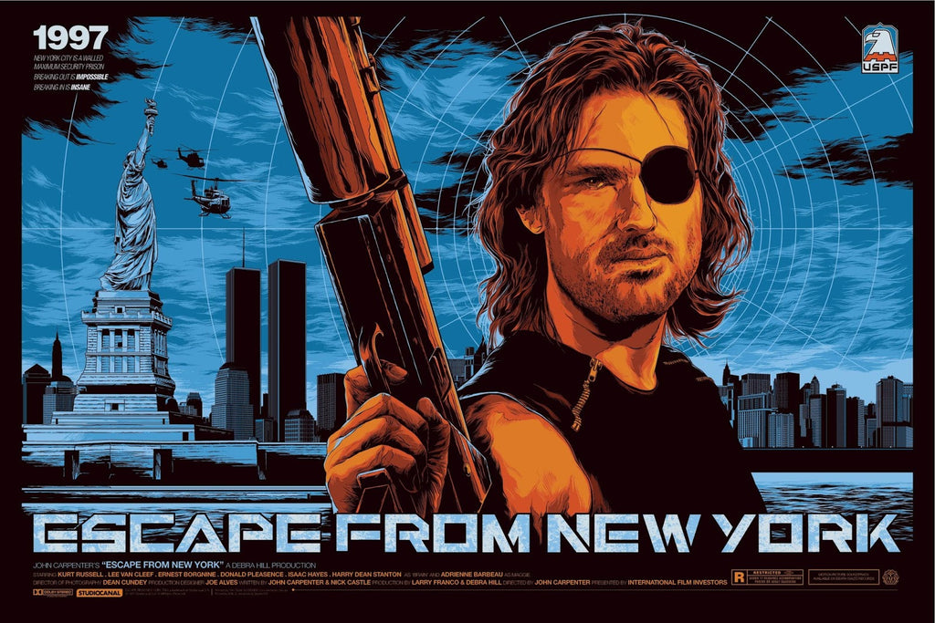 Escape from New York (Variant) Poster by Ken Taylor