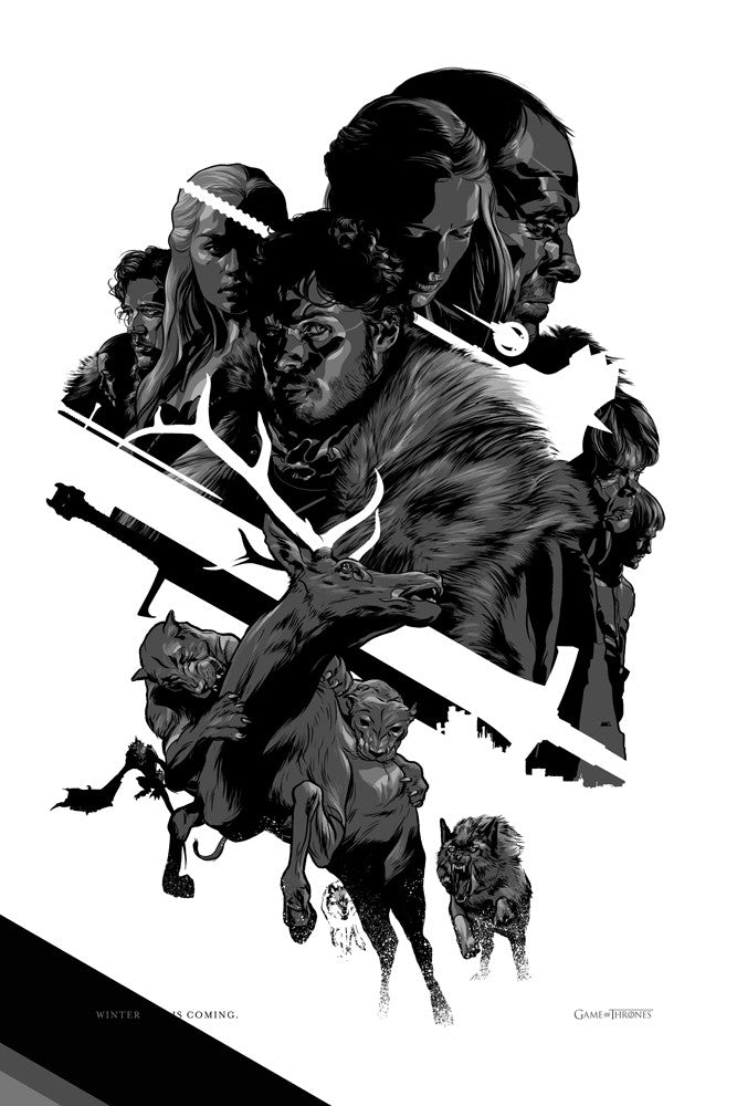 Game of Thrones Poster by Martin Ansin