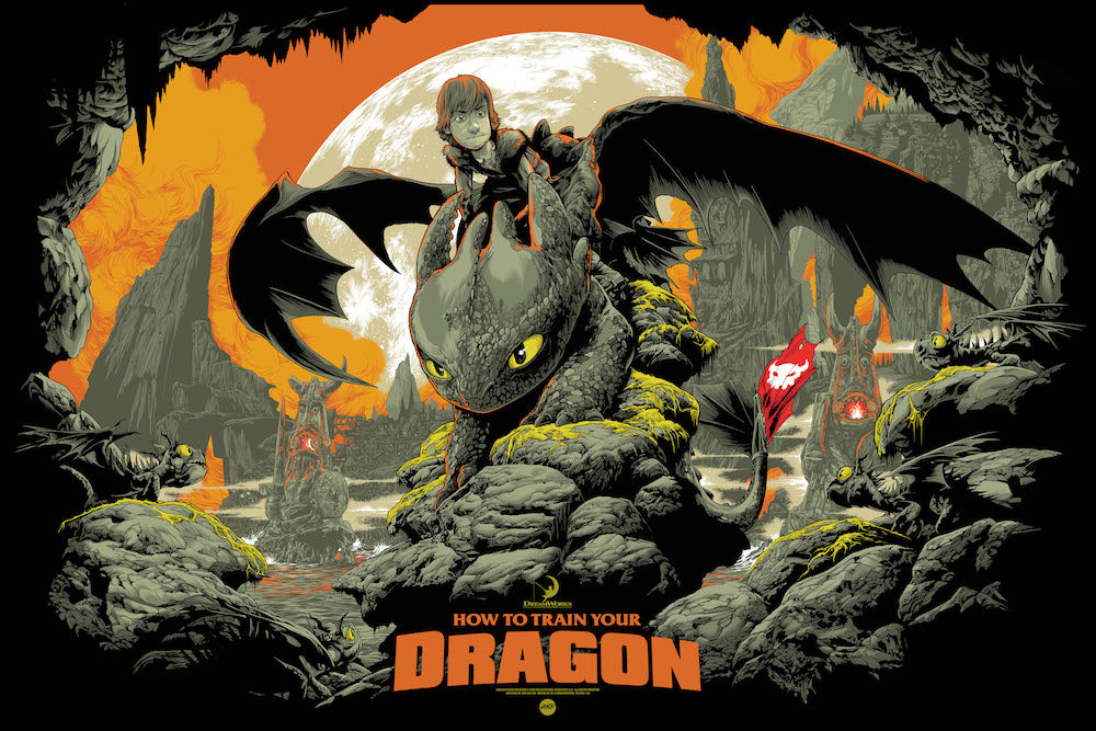 How to Train Your Dragon (Variant) Poster by Ken Taylor