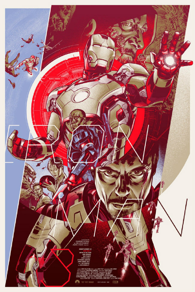 Iron Man 3 Poster (Variant) by Martin Ansin