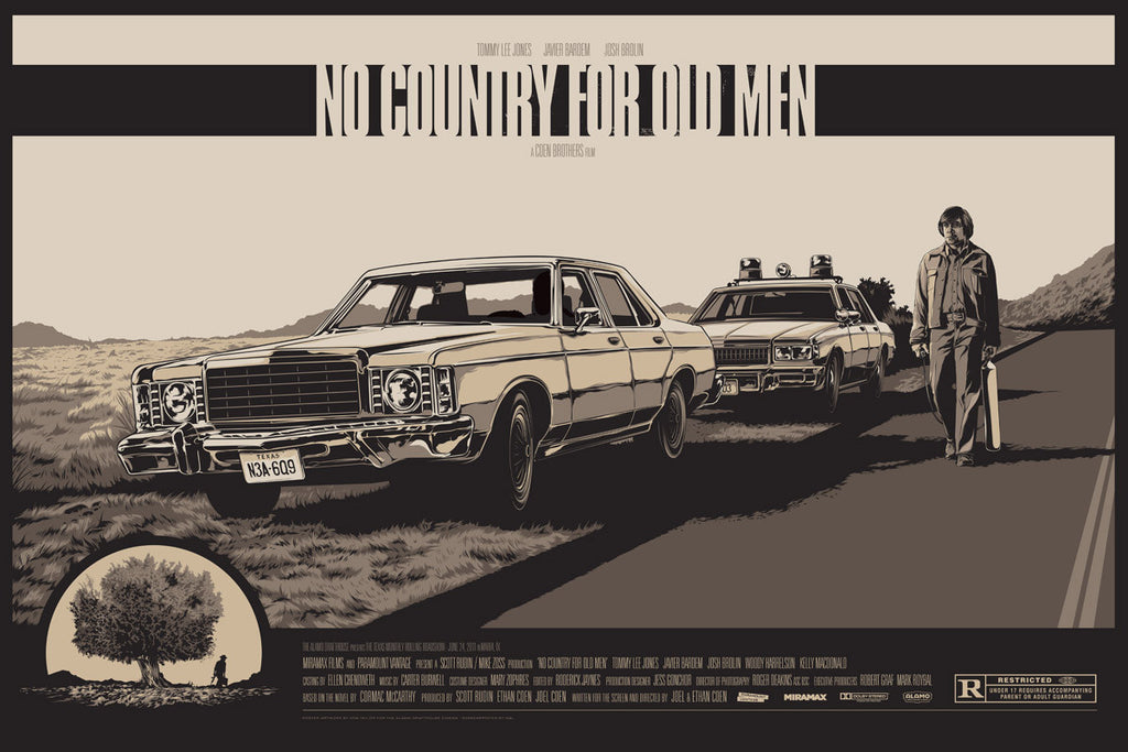 No Country for Old Men Poster by Ken Taylor