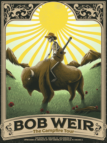 Bob Weir Tour Poster by Arno Kiss