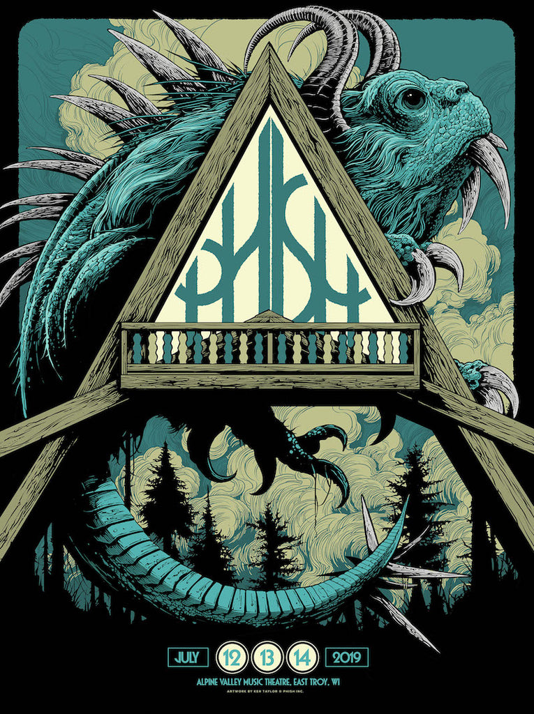 Phish Alpine Valley (Blue) Poster by Ken Taylor