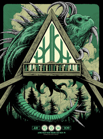 Phish Alpine Valley (Green) Poster by Ken Taylor