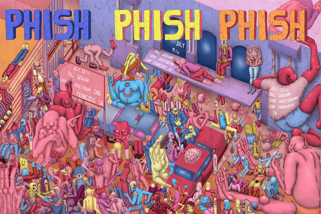 Phish (San Francisco) Poster Set by Alex Jenkins