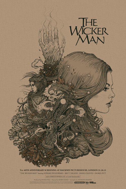 The Wicker Man Poster by Richey Beckett  (Variant)