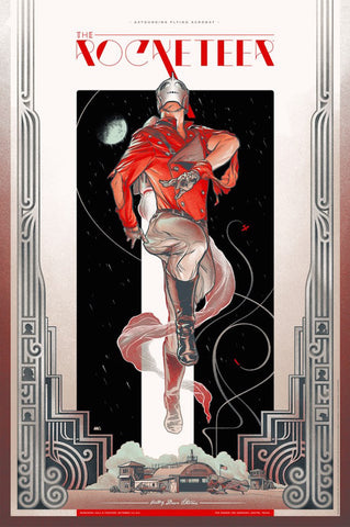 The Rocketeer (Variant) Poster by Martin Ansin