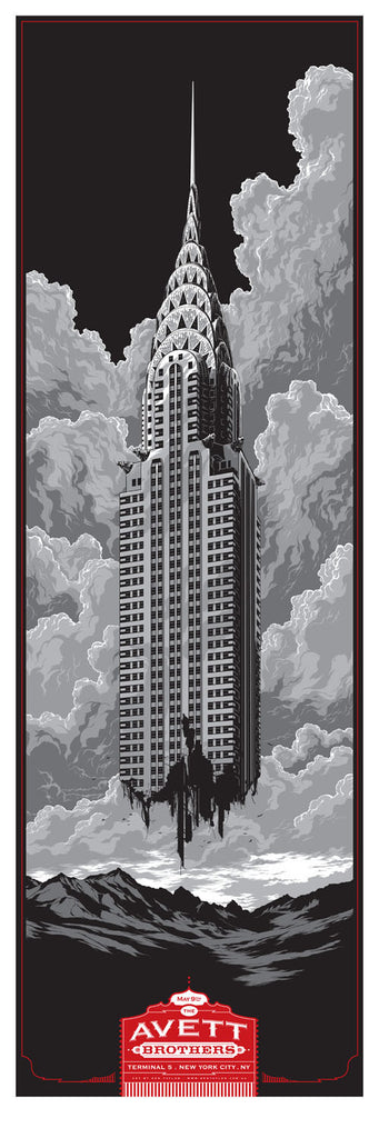 The Avett Brothers NYC Concert Poster by Ken Taylor