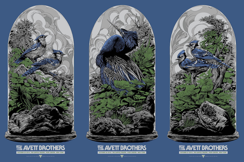 The Avett Brothers Port Chester Uncut Poster by Ken Taylor