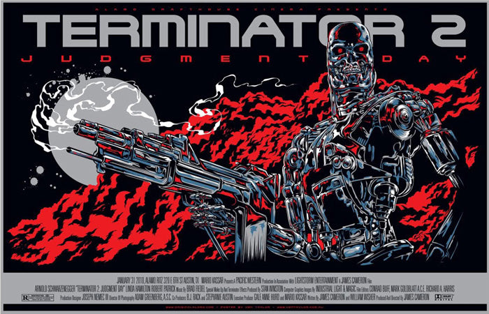 Terminator 2 Movie Poster by Ken Taylor