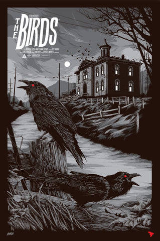 The Birds (Variant) Movie Poster by Ken Taylor