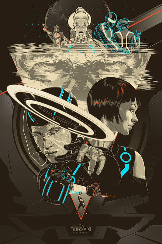 Tron Legacy Poster by Martin Ansin