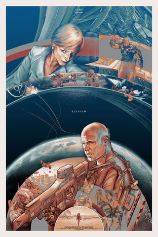 Elysium (Variant) Poster by Martin Ansin