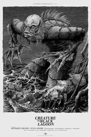Creature from the Black Lagoon Poster by Brandon Holt