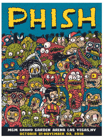 Phish (Vegas) Concert Poster by Hex Aunzo