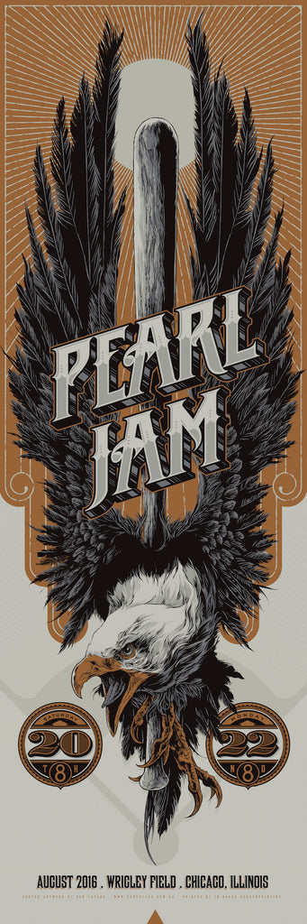 Pearl Jam (Wrigley Field) Poster by Ken Taylor (Variant)