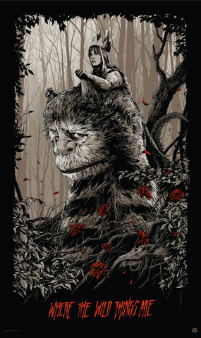 Where the Wild Things Are (Variant) Movie Poster by Ken Taylor