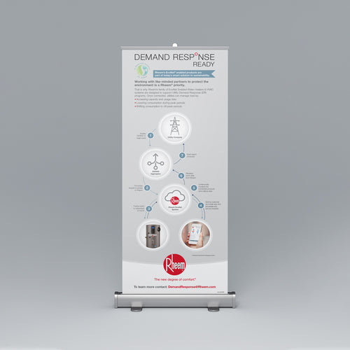 Demand Response Ready Roll-Up Banner