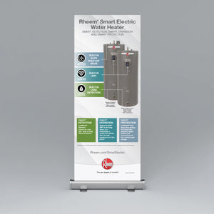 Rheem Smart Electric Water Heater Roll Up Banner