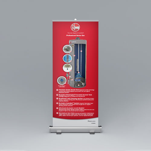 Professional Series Gas Roll-Up Banner