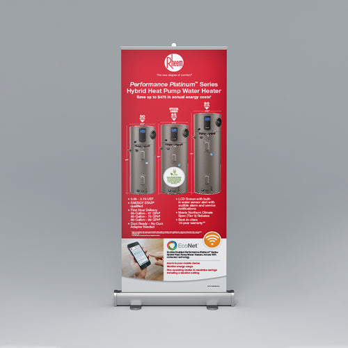 Performance Platinum™ Series Hybrid Heat Pump Roll-Up Banner