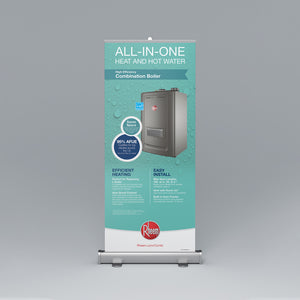 High Efficiency Combination Boiler Roll-Up Banner