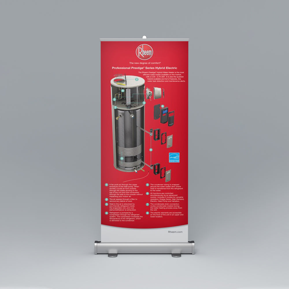 Professional Prestige® Series Hybrid Electric Roll-Up Banner