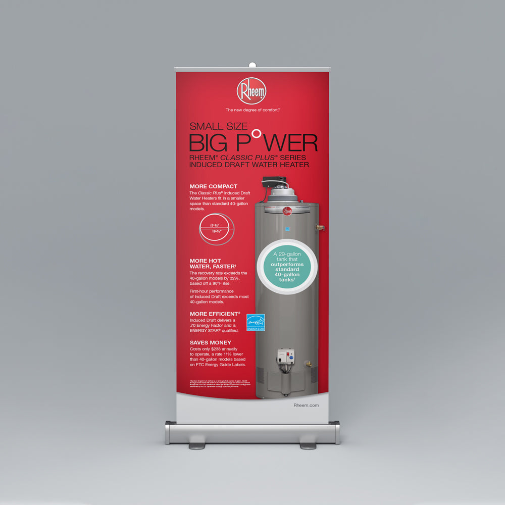 Classic Plus® Series Induced Draft Roll-Up Banner