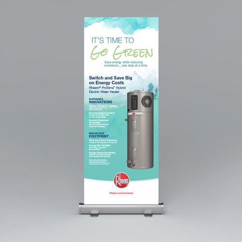 ProTerra GO GREEN Roll Up Banner
